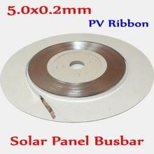 PV Ribbon 0.2x5.0mm DIY Mono Poly Sunpower solar cell panel soldering Busbar Wire