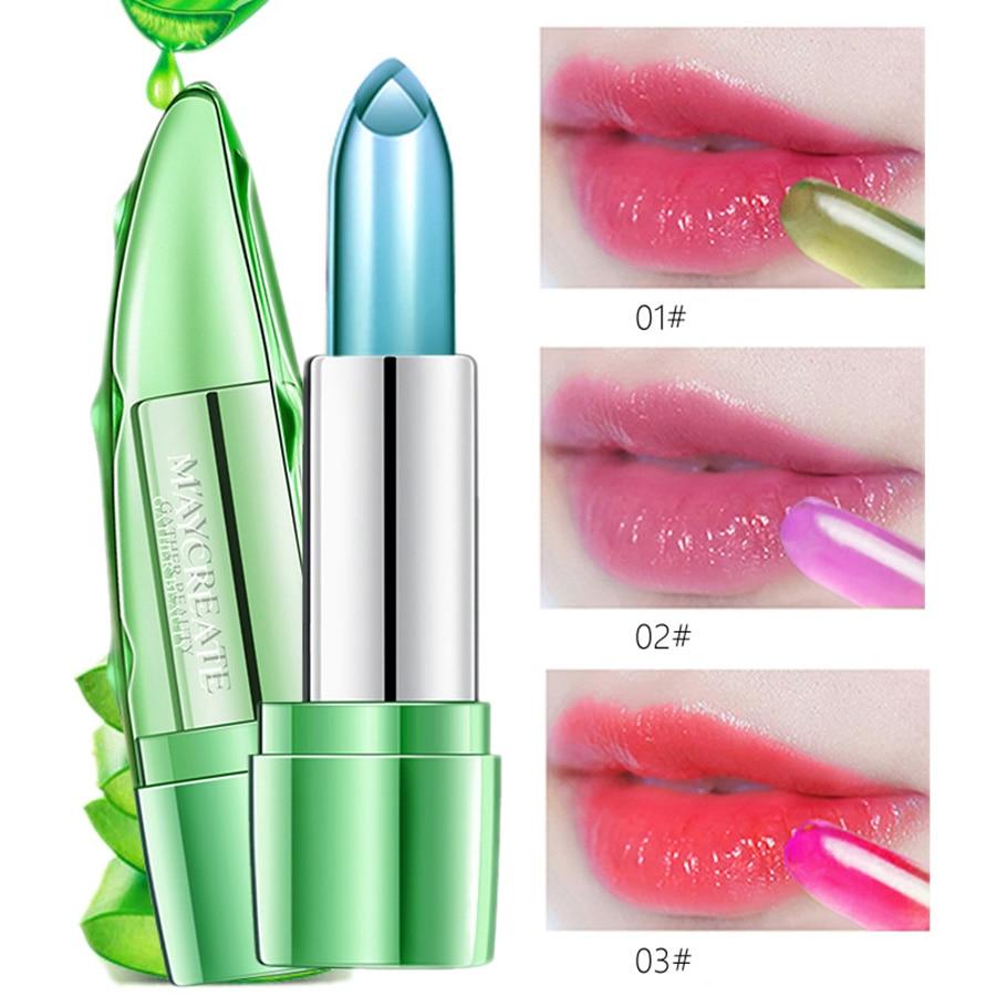 MayCreate Lip Balm Waterproof Lip Kit Moisturizing Lip Gloss Natural Aloe Honey Sexy Lipstick Professional Makeup For Women in Lip Balm from Beauty Health
