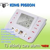 GSM 3G Senior Alarm Helper Healthcare Telecare System For Senior Elderly Support SOS Fall Down Carbon