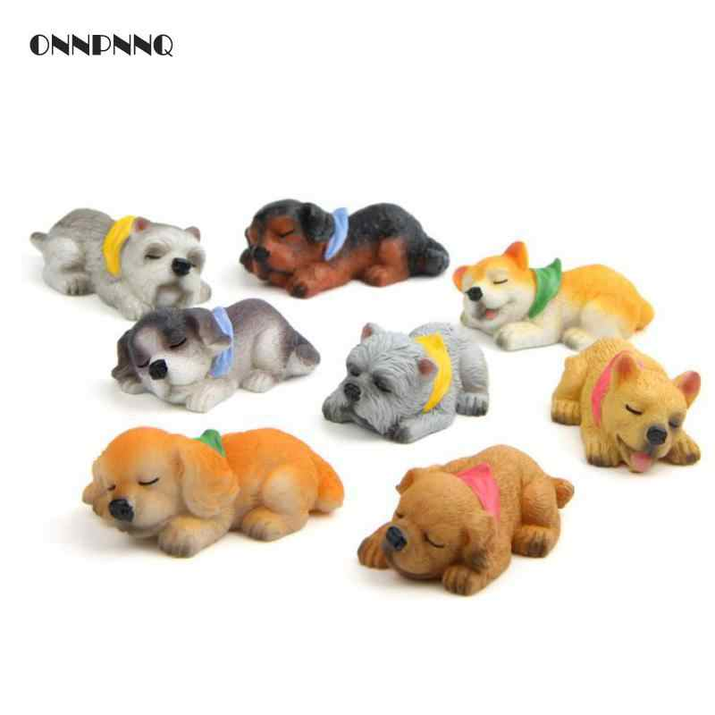 Diy Kawaii Animals Sleep Puppy Corgi Model Akita Dog Fridge Magnets Resin Fridge Magnets For Kids Gift Home Decoration