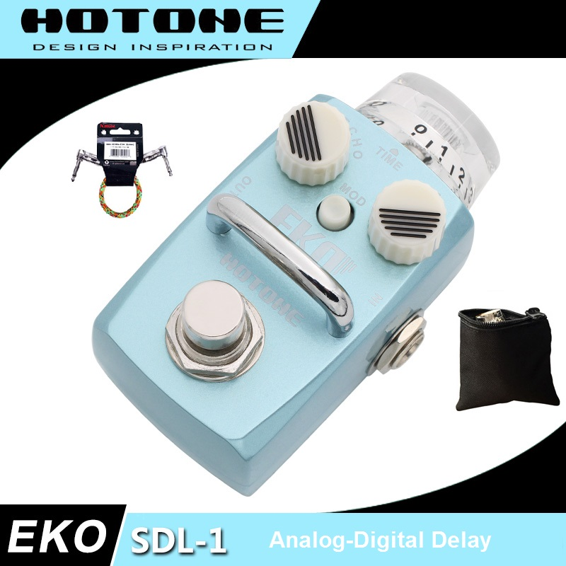 Hotone Skyline Series EKO Digital Delay Pedal with Free Pedal Case and More hotone skyboard junior pedal board designed for skyline series stompboxes spb 1