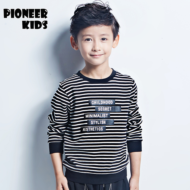 Pioneer Kids 2017 New Spring 100% Cotton Kids T Shirt Cartoon Long Sleeve Boys T-Shirt Children Pullovers Tee Boys Clothes pioneer cam t shirt