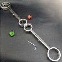 Новый нержавеющей стали бондаж наручники с Legcuffs садо ограничения наручники для секса взрослые игры игрушки для пары