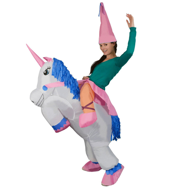 Inflatable Unicorn Halloween Costumes For Girls Fan Operated ...