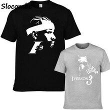 e26f5cf83 2018 Summer Allen Iverson T Shirts Men s 100% Cotton Short Sleeved T-Shirt  3d