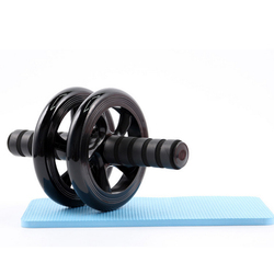 Free shipping body building fitness double wheel ab rollers 27x15 cm pvc wheel.jpg 250x250