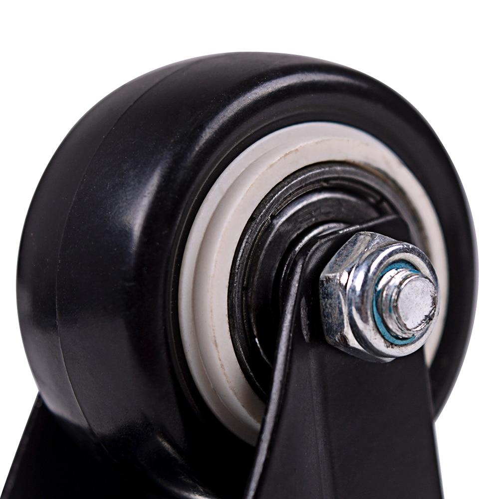 4Pcs 1.6in Heavy Duty rodas Giratórias Com Rodinhas com Segurança de Bloqueio Duplo e Rodas de Espuma de Poliuretano Sem Ruído, Rolamento de Carga £ 440-5
