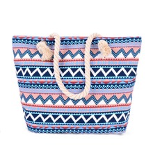 New arrival Lunch bag Big Bag Handbag Women stripe Canvas Bags Bohemia Beach Tote Shoulder Bags Women Canvas Handbags