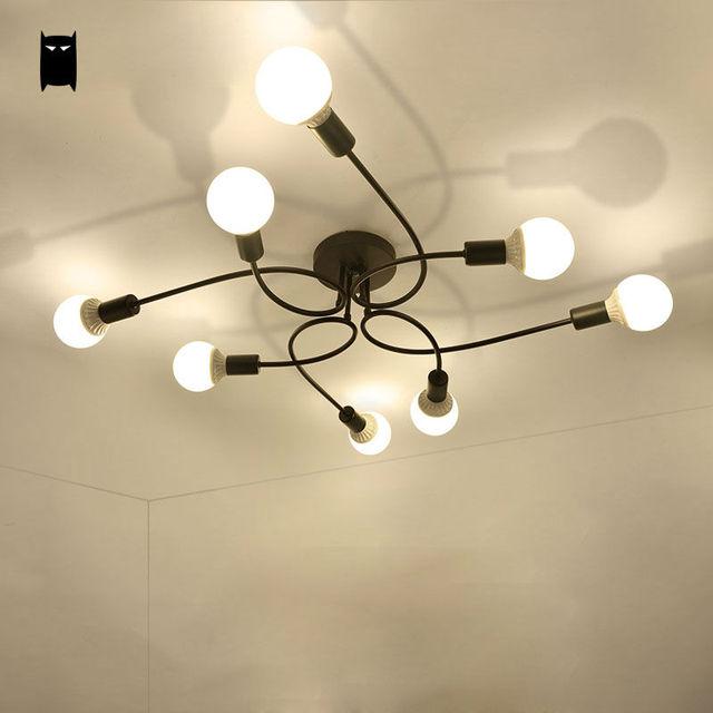 Schwarz Weiss Eisen Metall Cloud Deckenleuchte Art Deco Koreanisch Japan Stil Glanz Plafon Luminaria Fur Schlafzimmer