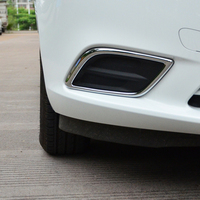 Free Shipping High Quality ABS Chrome Front Fog lamps cover Trim Fog lamp shade Trim For Chevrolet Chevy Sail