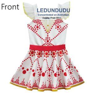 Image 4 - Été enfants robe imprimée rouge film ballerine Felicie Cosplay Costume enfant bébé filles robe sans manches
