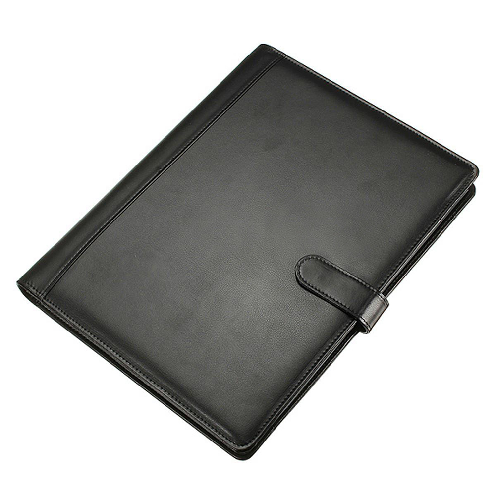 Leather Folder A4 briefcase Conference Folder Black blel hot high quality leather folder a4 briefcase bussiness conference folder black