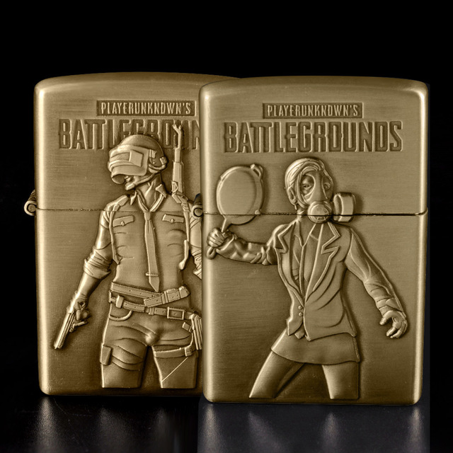 PUBG Bronze Kerosene Oil Refillable Cigarette Lighter