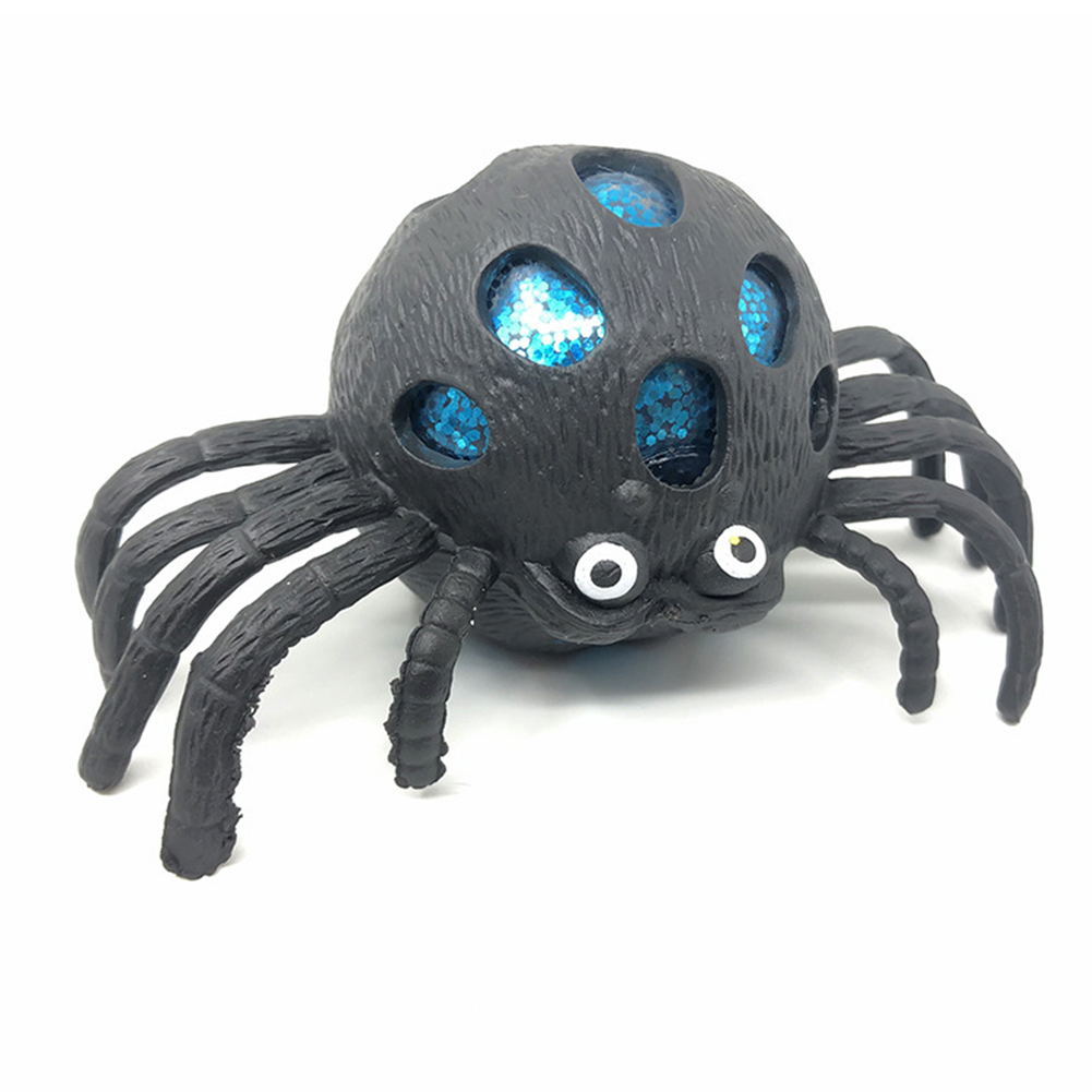 1pcs Decompression Toy Bright Color Spider Vent Toy For Releasing Stress Vent Ball For Relaxing Pinching It For Fun Color Random