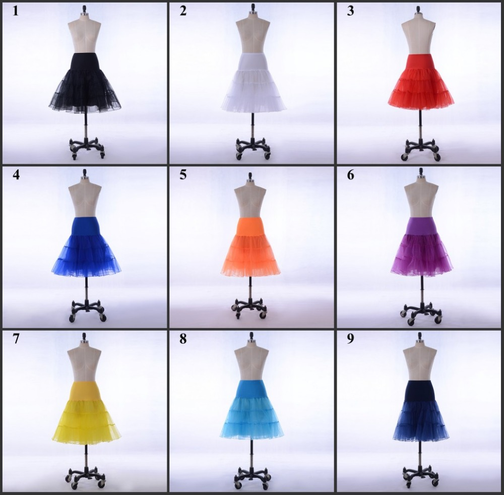 2018 Short Petticoat Wholesale Underskirt for dress accessories Lady Girls Crinoline Cheap Bridal Petticoat For Wedding Dress