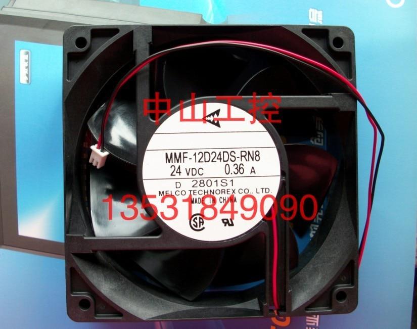 New Original Nidec Inverter fan for Yaskawa G7 / F7 MMF-12D24DS-RN8 24V 0.36A 120*120*38MM dhl ems 1pcs original for yaskawa a1000 inverter cimr ab4a0031faa