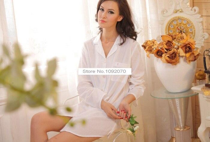 COTTON WHITE MAYFAIR SLEEPSHIRT victoria menswear styling cotton nightie  sleepwear lounge notch collar sleepshirt-in Nightgowns   Sleepshirts from  Underwear ... 737b81af1
