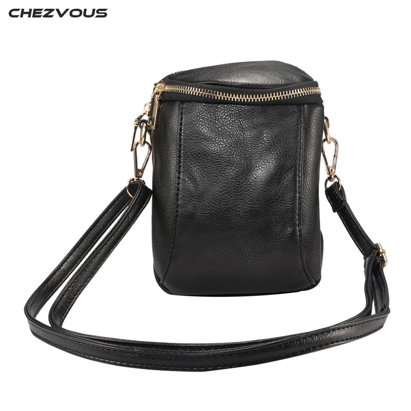 CHEZVOUS Mobile Phone Bag Women Shoulder Bag for Samsung S8 plus S7 S6 edge S5 Note 8 7 PU Leather Case Cross body Wallet Pouch