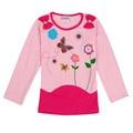 Crianças Meninas T camisas 2016 Crianças de Moda Meninas Camisetas Bebê roupas de menina nova t camisas de outono/primavera tops camisas dos miúdos t roupas