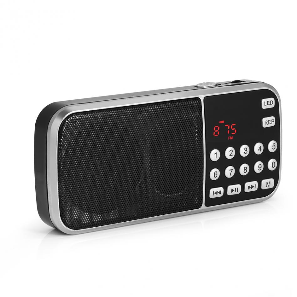 Y-501 FM Radio Portable Digital Audio Music Player Speaker LED Flashlight Support TF Card USB AUX 100% New Brand High Quality