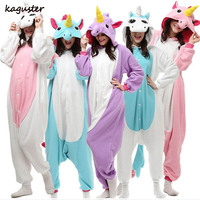 Unicorn Pajama Sets Hallowen Christmas Costume Cosplay Kugurumi Adult Kids Animal Onesie Winter Nighte Sleepwear For