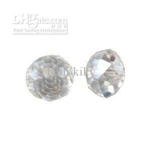 600PCS clear faceted crystal round beads W19477