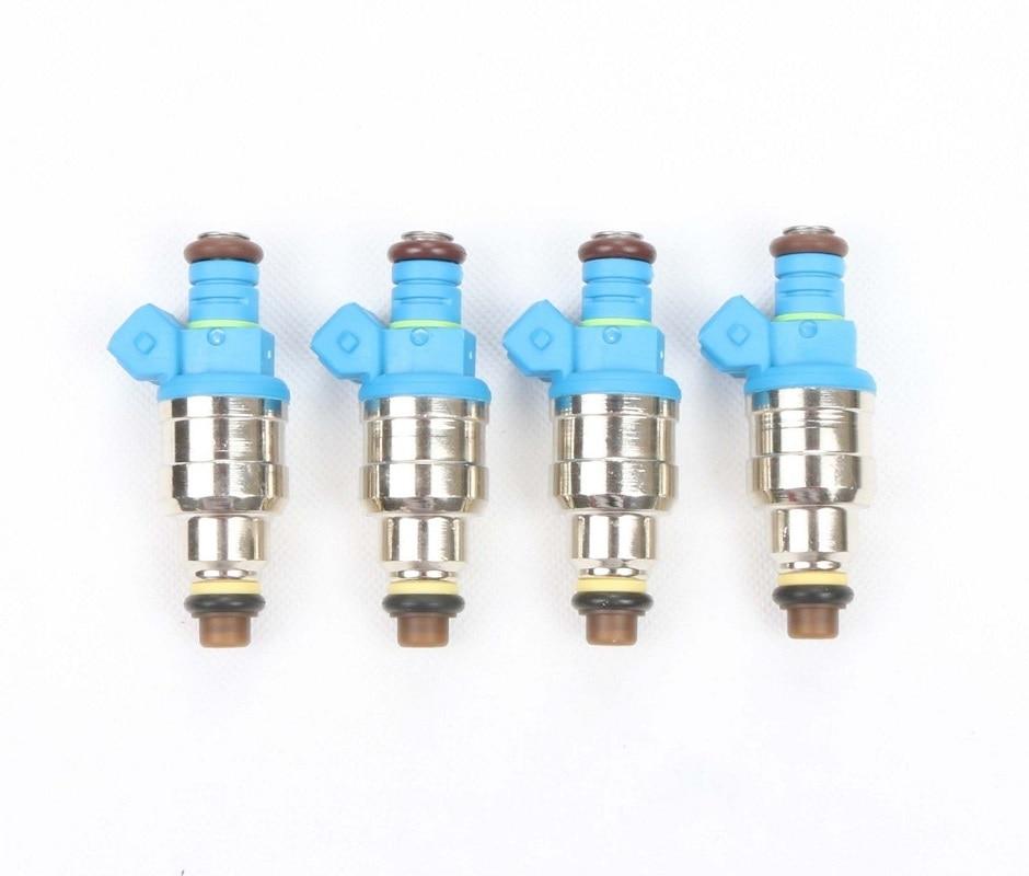 Set of 4 EV1 42lb Fuel Injectors For BMW M10 S14 E30 Turbo DOHC 420a TT
