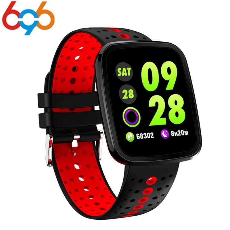 696 V6 Smart Watch Bracelet Waterproof Heart Rate Blood Pressure Smartwatch Outdoor Sport Fitness Tracker Reminder Wearable Devi