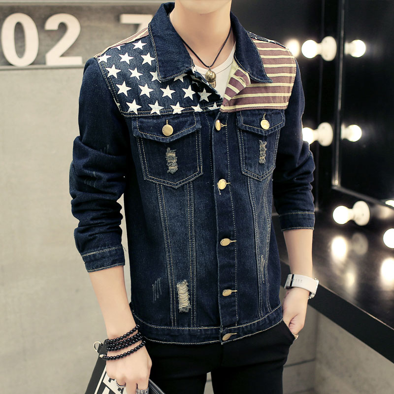 Aliexpress.com : Buy 2017 Men Denim Jacket Casual Slim Jean Jacket ...