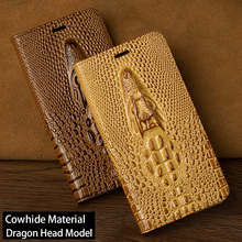 Dragon head Flip Case For iPhone 6 6S 7 8 Plus Luxury leather Soft inner Shell iphone 6p 7p 8p 5 5S SE Back Cover