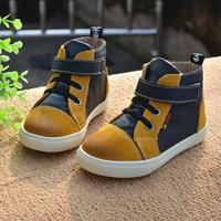 New Boys Girls Boots For Kids Plush Hand Stitching Cotton Shoes Ankle Boots Winter Children Snow