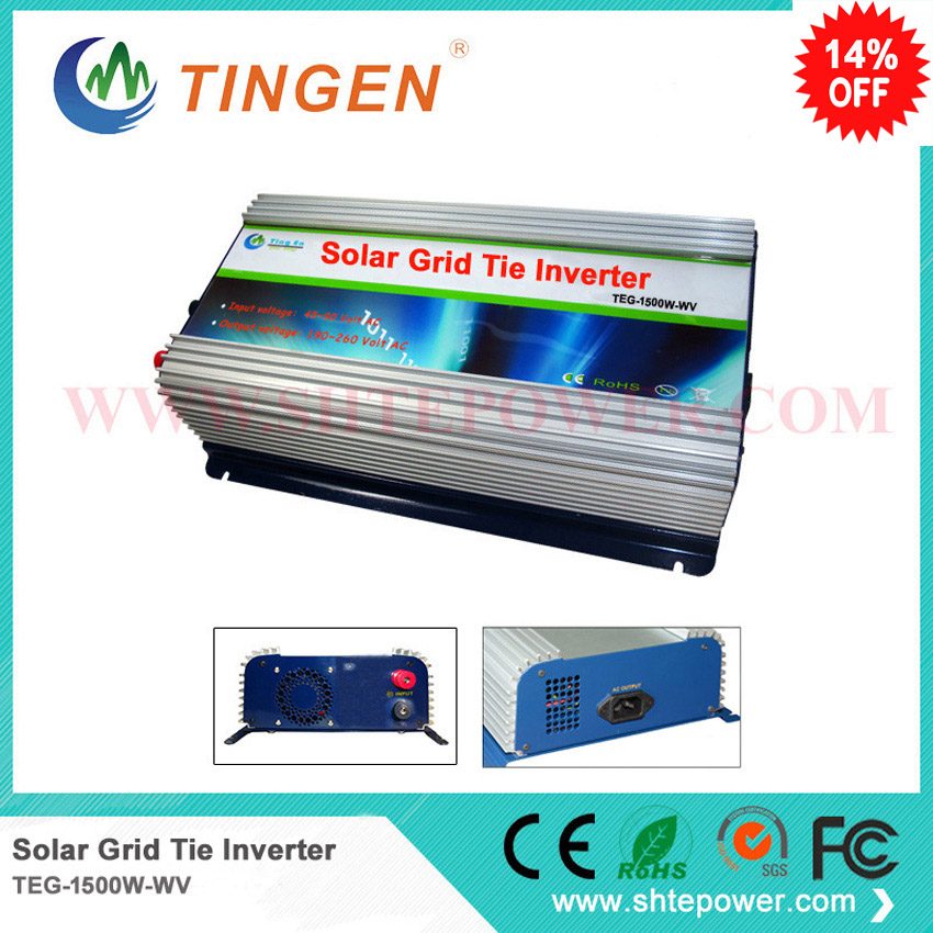 on grid solar inverter pure sine wave 1.5kw dc 48v input to 90-130v/190-260v output mppt 300w solar grid on tie inverter dc 10 8 30v input to two voltage ac output 90 130v 190 260v choice