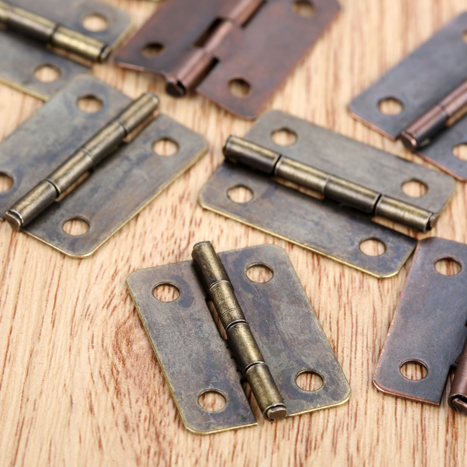 10pcs Antique Cabinet Hinges Furniture
