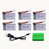 6Pcs 3.7V 600mAh 25C Battery For Syma X5C X5C 1 X5 X5SC X5SW H5C V931 6 in 1 Lipo Battery Charger Remote controlled aircraft