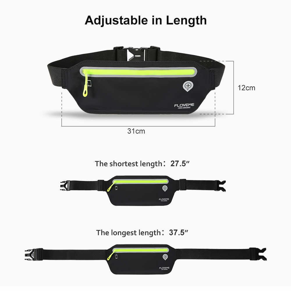 FLOVEME 6.5 inç Evrensel Su Geçirmez Spor Koşu Spor Kemer Bel Çanta Için iPhone Için XS MAX XR Kılıfları Huawei P20 p10 Lite Pro