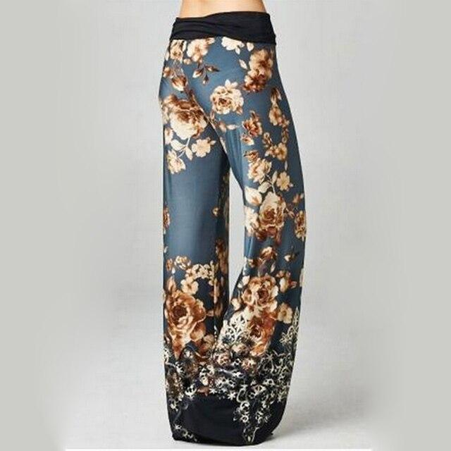 Lasperal 2017 Wide Leg Pant Fashion Pants Capri Women Fashion Flower