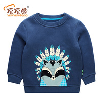 Winter Warm Hoodies For Children Plus Velvet Sweatshirts For Baby Boys Warm Outerwear Clothes For