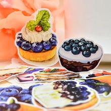 25pcs Self-made Cake Handbook Sticker Food Blueberry Sticker Dessert Lovely Girl Heart Student Album Decorative Sticker