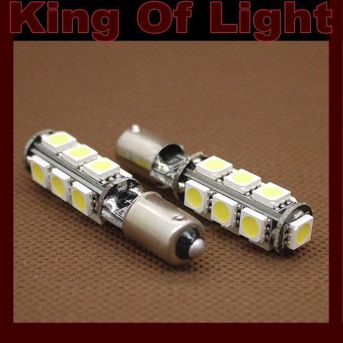 100X Error Free Canbus G14 BA9S 13 SMD 13 leds SMD 5050 Car Light Bulb Lamp NO OBC ERROR Free shipping