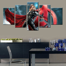 Modular Avengers Movie Poster Wall Art 5 Panel HD Print for Living Room Bedroom Decor
