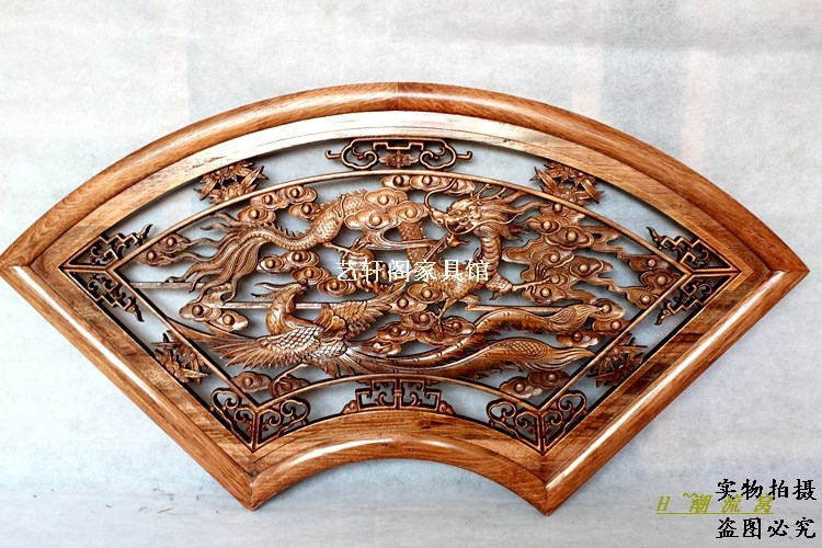 Dongyang woodcarving doors and Windows partition wall hanging inside the Chinese antique camphorwood fan Pendant longfengchengxiDongyang woodcarving doors and Windows partition wall hanging inside the Chinese antique camphorwood fan Pendant longfengchengxi