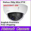 Hot Sale Dahua 2Mp Full HD Network Mini PTZ Speed Dome 4x optical zoom Outdoor Camera SD22204T-GN English Firmware Free shipping
