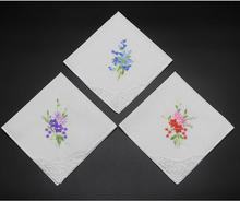Flower handkerchief family custom a gift for parents  bride and grooms