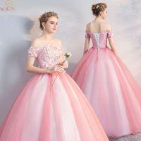 Vintage Quinceanera dresses 2019 New Appliques Ball Gown Classic Party Prom Formal Robe De Soiree Quinceanera Dress vestidos de