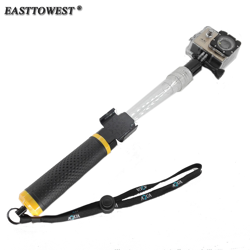 EVO Transparent Telescopic Floating Extension Pole 14 -24 With Wifi Remote Holder Monopod for Gopro Hero 4 3 Xiaomi Yi SJ4000