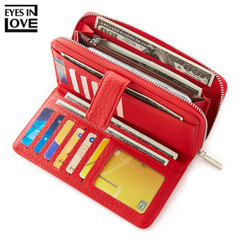 EYES IN LOVE Brand Large Capacity Long Clutch Wallet Female Leather 19 Slots Card Holder Phone Pocket Women Wallets Purse Ladies