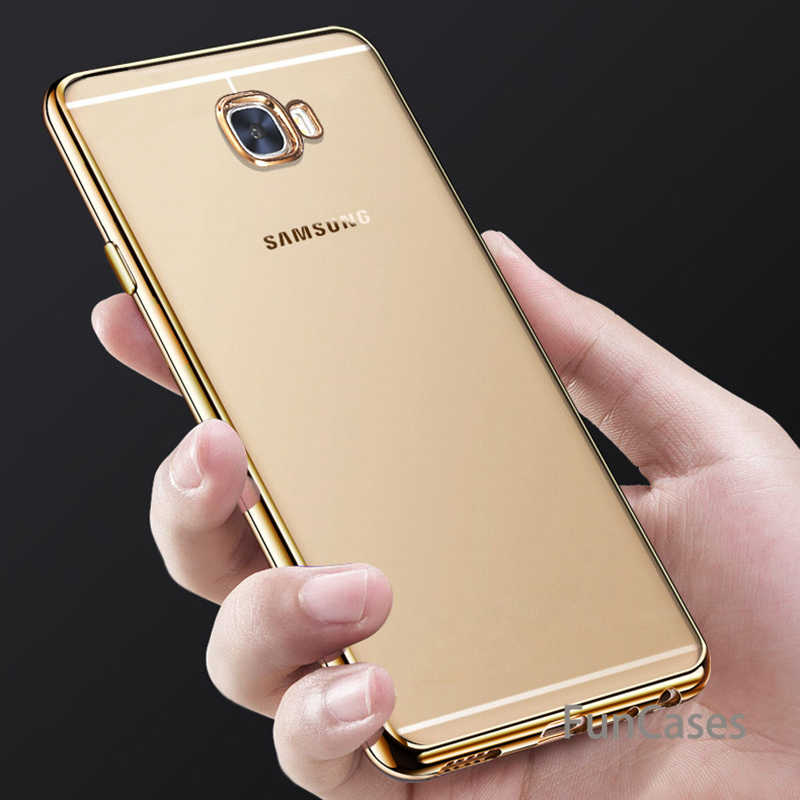 Ultra Thin Gold Back Cover For samsung galaxy A3 A5 A7 2016 J3 J5 J530 J7 2017 Prime S6 S7 Edge S8 Plus Case Plating Soft TPU
