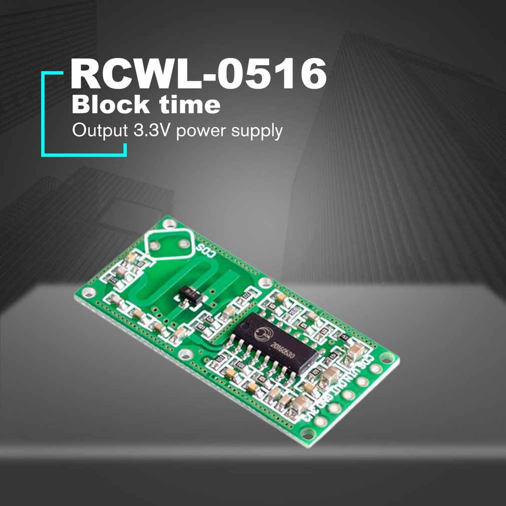 RCWL-0516 Doppler Radar Sensor Motion Detector Microwave Module for Human  Body Induction Switch Intelligent Detection