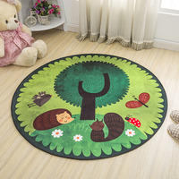 Baby Play Mat Round Elephant Seagull Deer Crawling Blanket Infant Game Pad Play Rug Floor Carpet Baby Gym Activity Room Decor