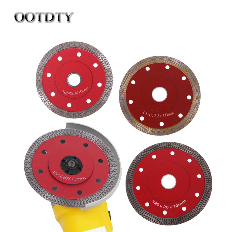 OOTDTY Red Hot Pressed Sintered Mesh Turbo Ceramic Tile Granite Marble Diamond Saw Blade Cutting Disc Wheel Bore Tools